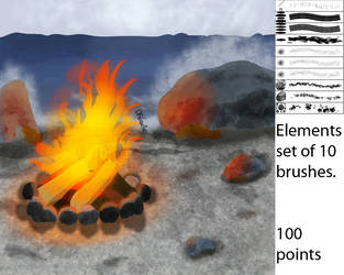 Elements Brushes Ver 1 (CS5+) by DFdirector