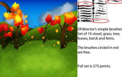 Simple Nature Brushes ver 1 (CS5+) by DFdirector