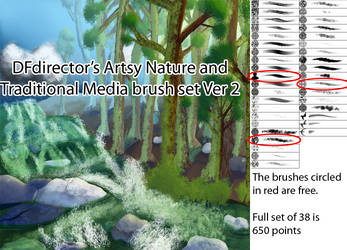 Artsy Nature and Traditional Media Ver 2 Brushes by DFdirector