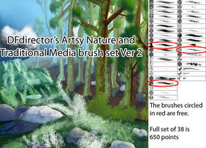 Artsy Nature and Traditional Media Ver 2 Brushes