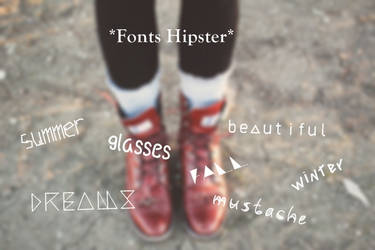 Fonts Hipster by solochiquitita