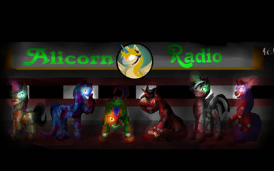 Five Nigths At ALicornRadio background by RadiantGryphonGrapic