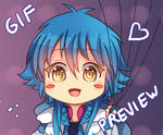 -- DMMD Gif : Aoba with balloons --