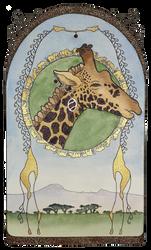 Giraffe Art Nouveau