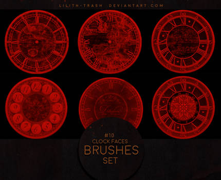 Clock Faces Brushes #5