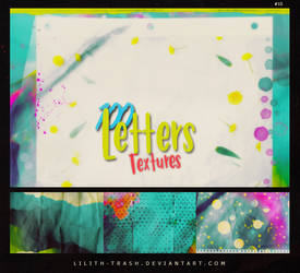 100 Letters Texture Pack #15