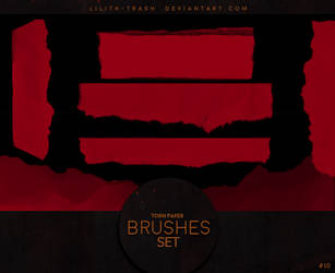 Torn Paper Brushes #10 by LilithDemoness