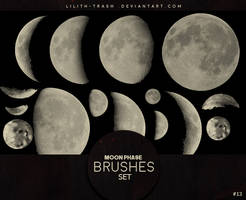 Moon Phase Brushes #13 by LilithDemoness