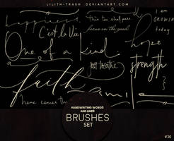 Handwriting Words and Lines Brushes #30 by LilithDemoness