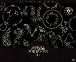Hand Drawn Little Flowers Brushes #60