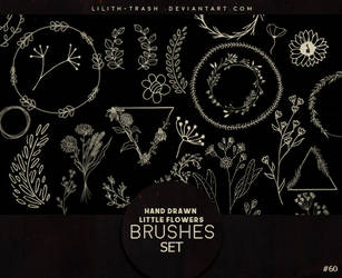 Hand Drawn Little Flowers Brushes #60 by LilithDemoness