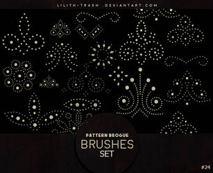 Pattern Brogue Brushes #24 by LilithDemoness