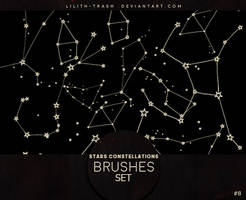 Stars Constellations Brushes #8 by LilithDemoness