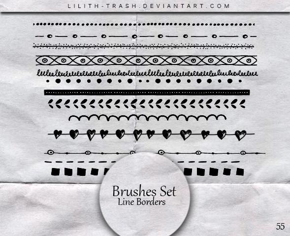 Line Borders Brushes  #55