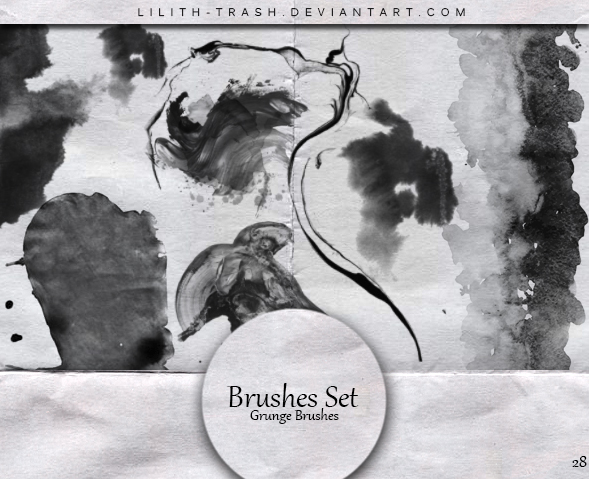 Grunge Brushes #28 by LilithDemoness