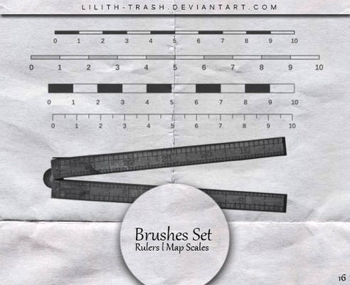 Rulers ll Map Scales Brushes #16