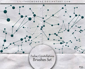 Zodiac Constellations Brushes #55