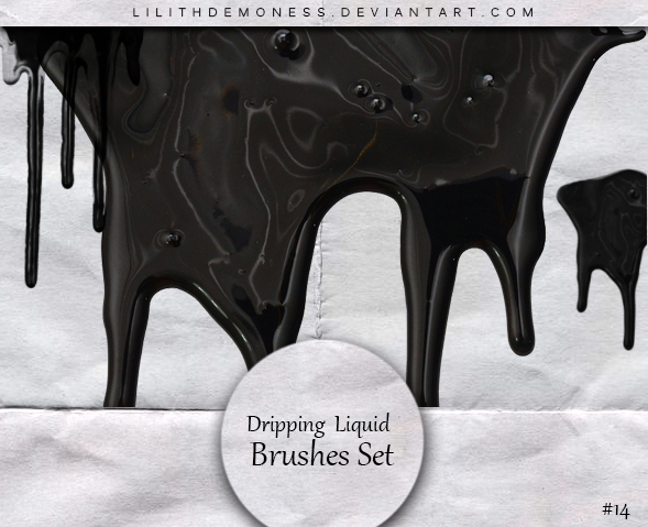 Dripping  Liquid Brushes