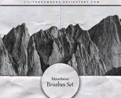 Mountains Brushes #20