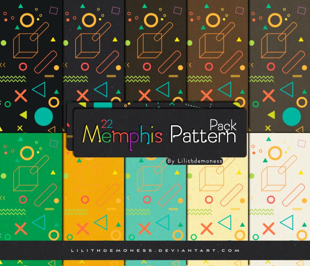 Memphis Pattern Pack #27 by LilithDemoness on DeviantArt