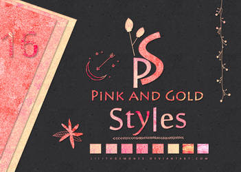PinklGold Text Styles #16 by LilithDemoness