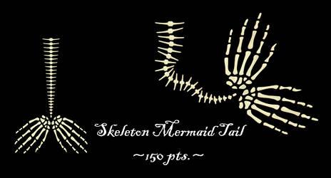 Skeleton Mermaid Tail