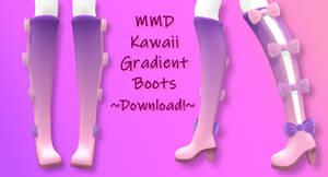 MMD Kawaii Gradient Boots ~Download!~