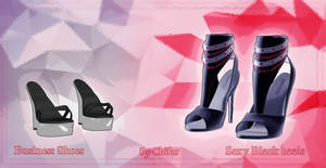 [MMD] Business Shoes and Sexy Black heels [no dl]