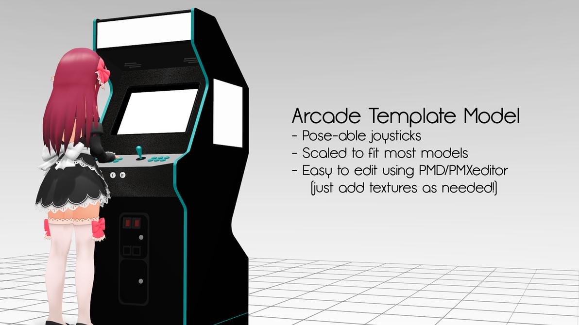 MMD Arcade Template DL By MrWhitefolks