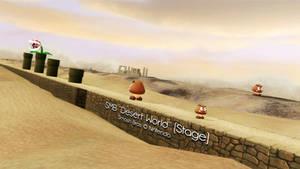 [MMD] Mario Desert World Stage DL