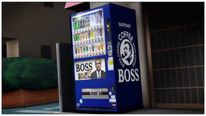 [MMD] Boss Coffee Vending Machine - DL