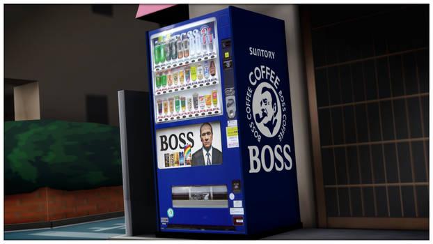 [MMD] Boss Coffee Vending Machine - DL by MrWhitefolks