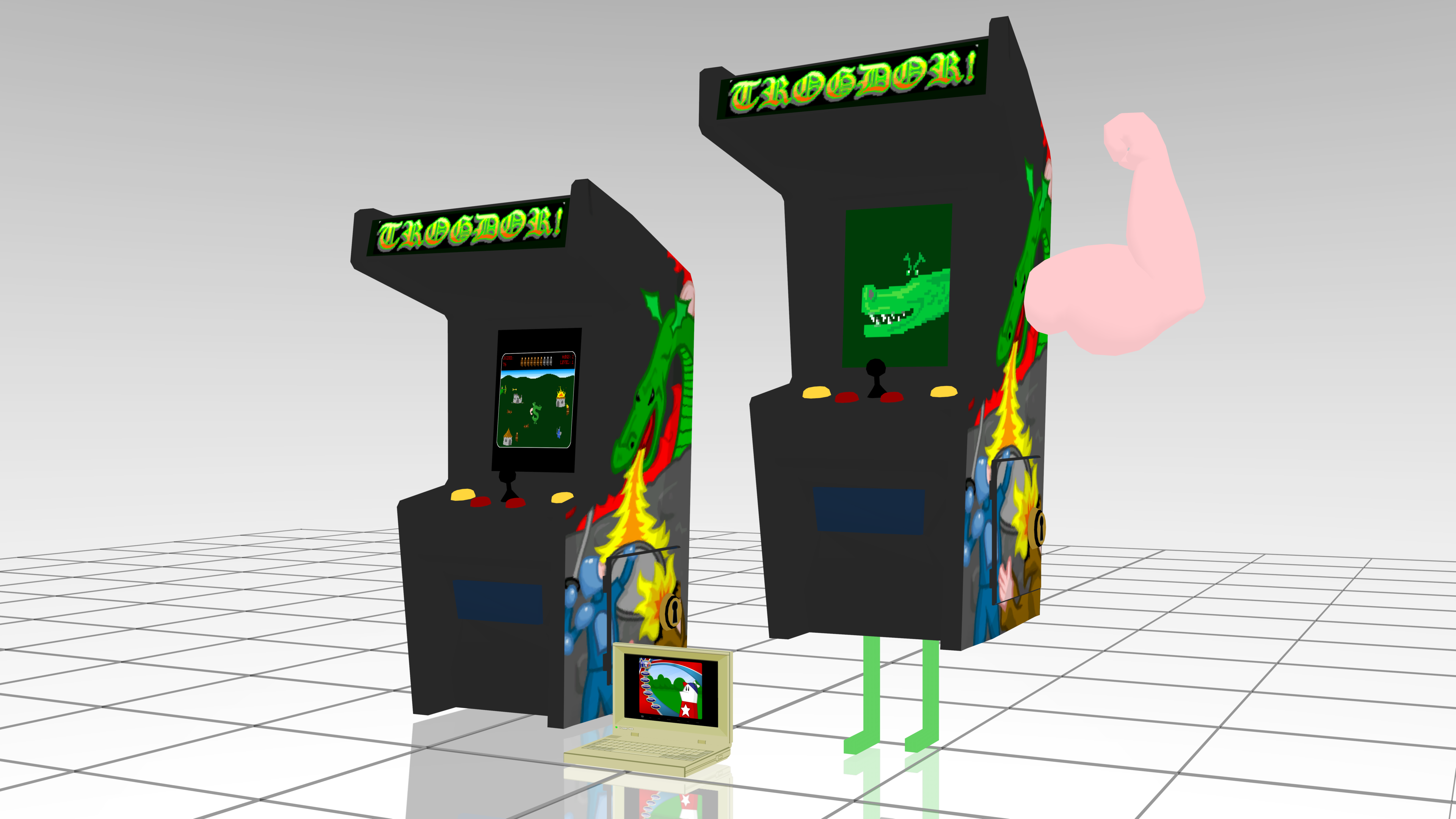 [MMD] Trogdor Arcade and The Lappy -- DL