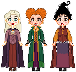 The Sanderson Sisters F2U by Nerdy-pixel-girl