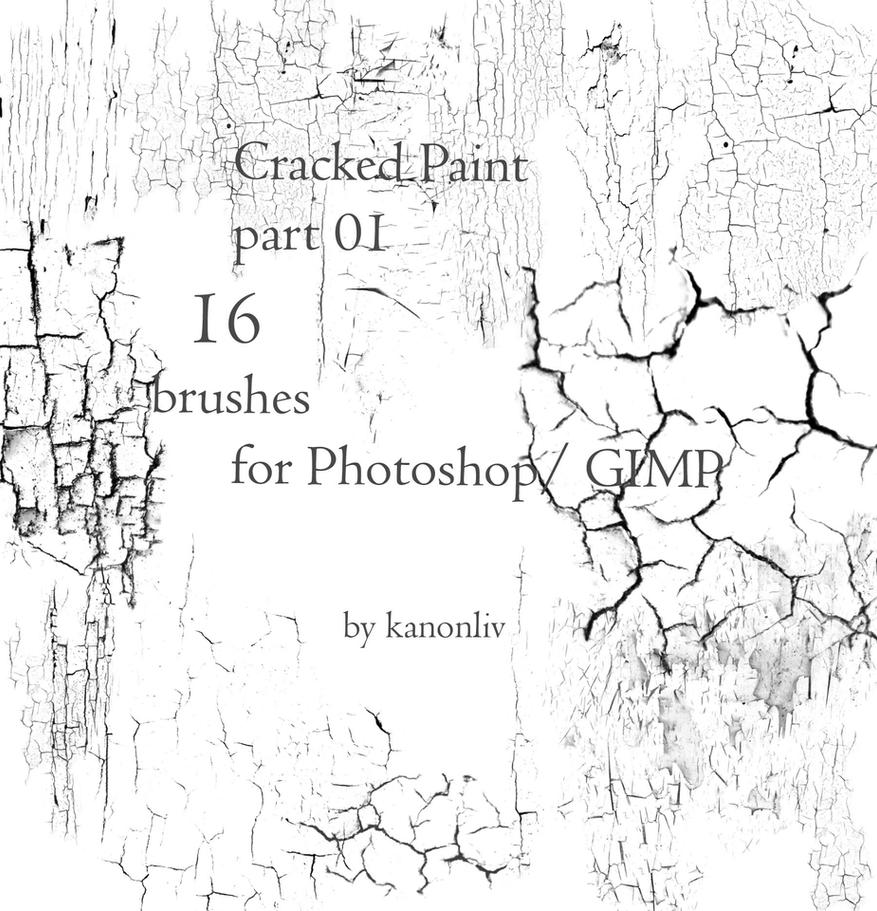 16 Cracked Paint Brushes by kanonliv
