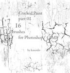 16 Cracked Paint Brushes