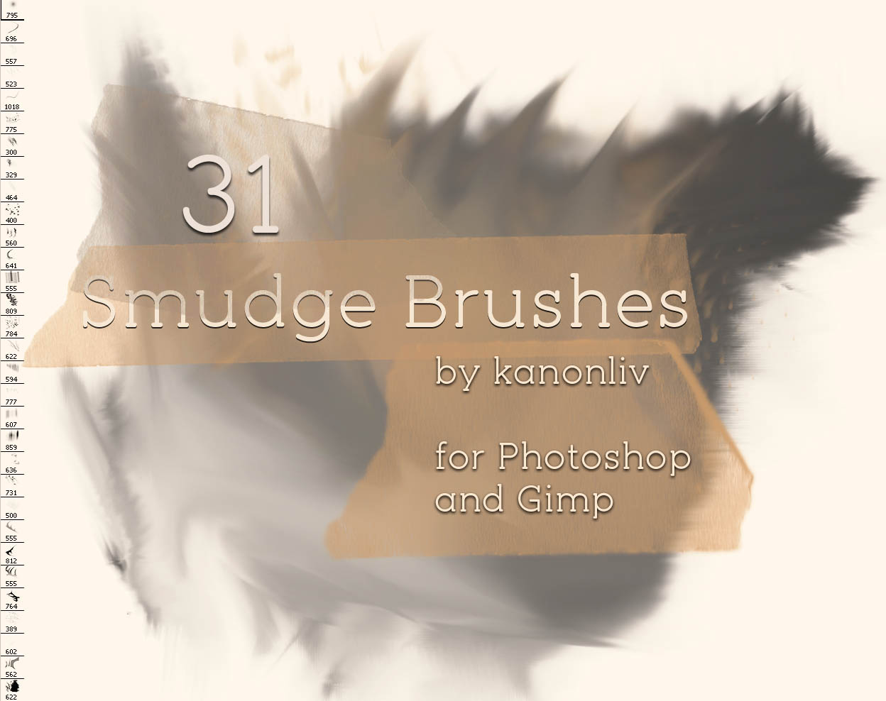 31 Smudge Brushes