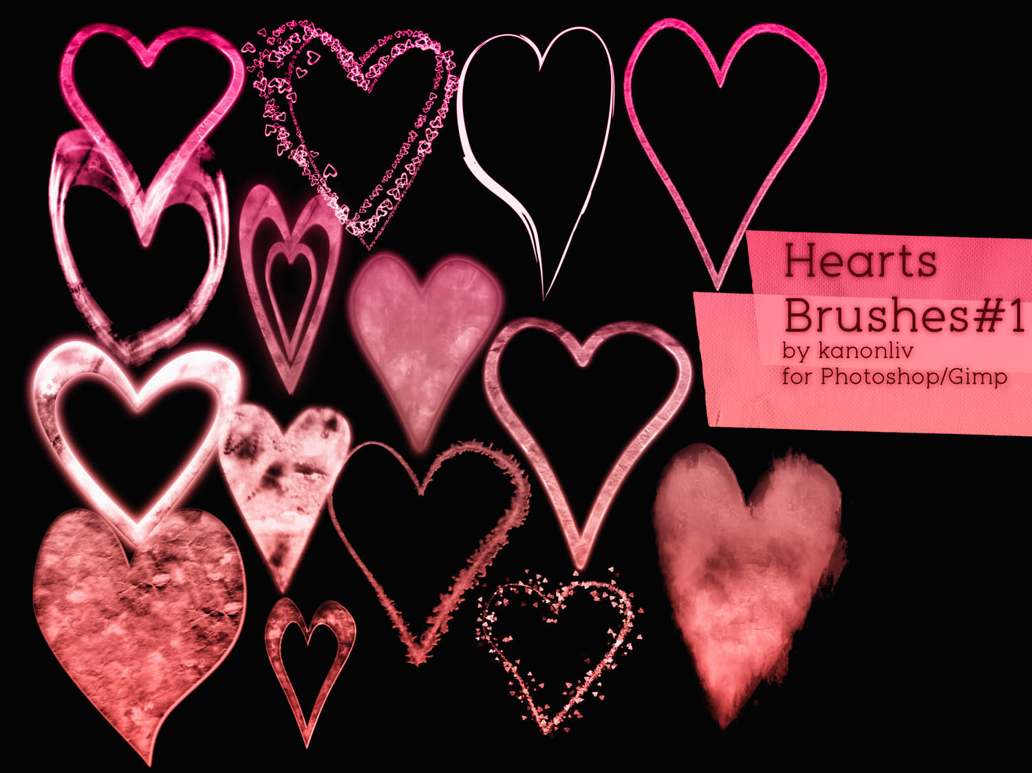 Heart Brushes part 1
