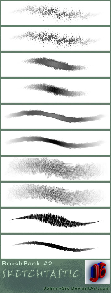 Sketchtastic brush pack by JohnnySix
