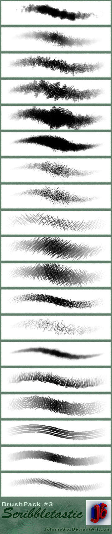 Scribbletastic brush pack by JohnnySix
