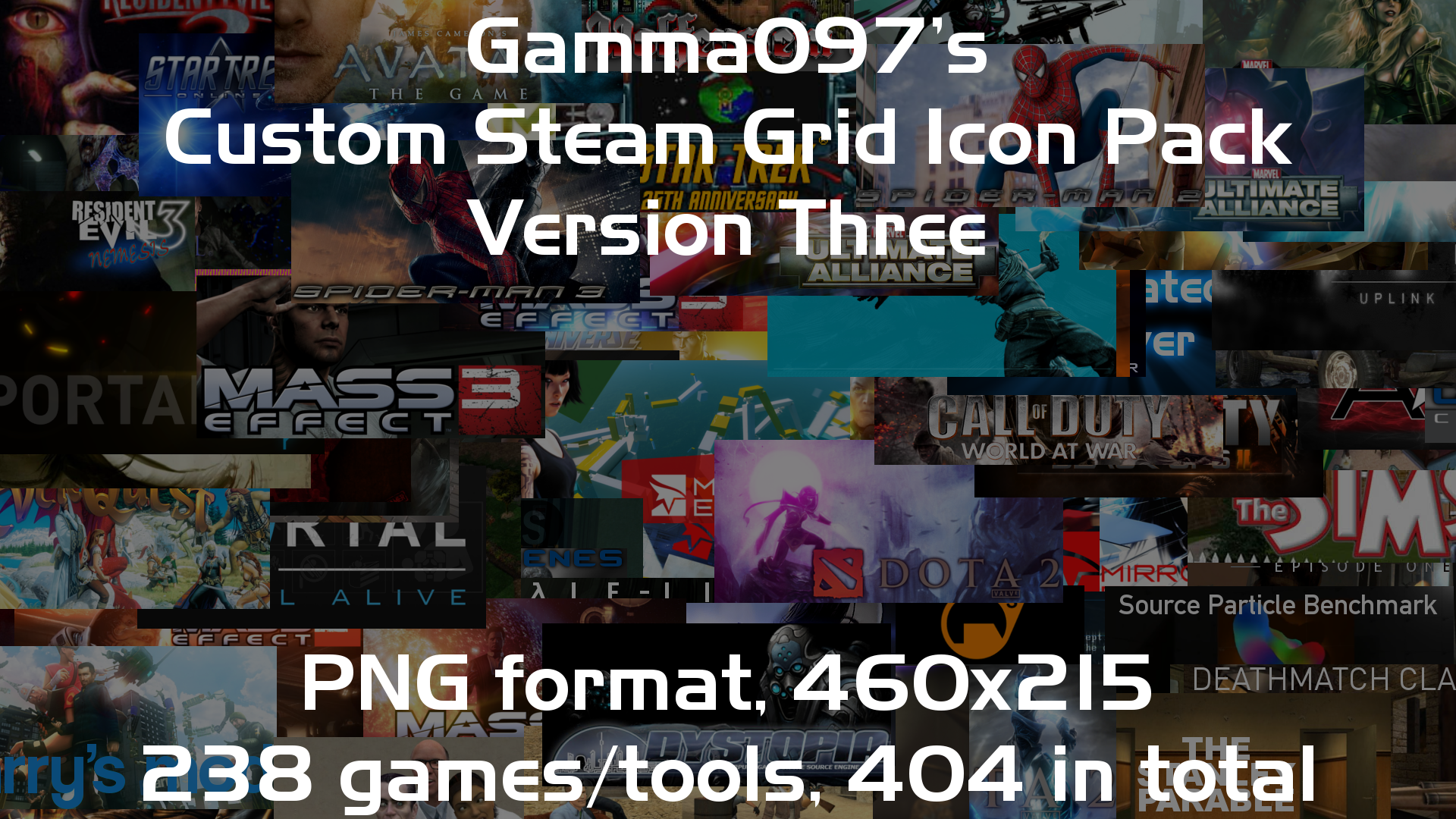 Steam Grid Icon Pack: Version Three by gamma097