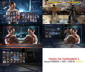 Tekken 7 - Kazuya TTT2 Render + Hud + Icon Mod