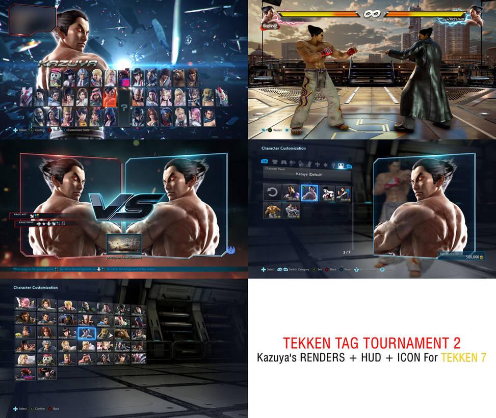 Tekken 7 - Kazuya TTT2 Render + Hud + Icon Mod by Mortal