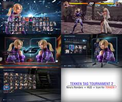 Tekken 7 - Nina TTT2 Render + HUD + Icon Mod