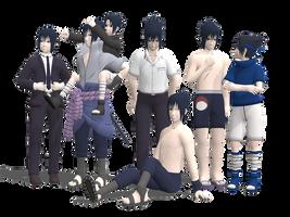 Sasuke Pack for MMD