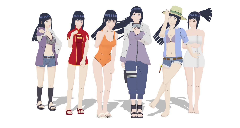 Hinata Pack 1 for MMD~ by StekinoMai