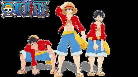 [MMD x One Piece] Monkey D. Luffy model + DL