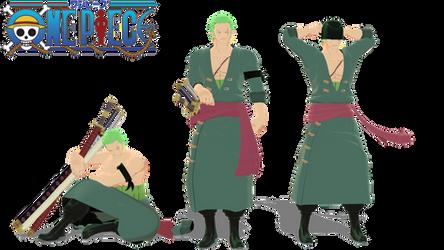[MMD x One Piece] Roronoa Zoro model + DL