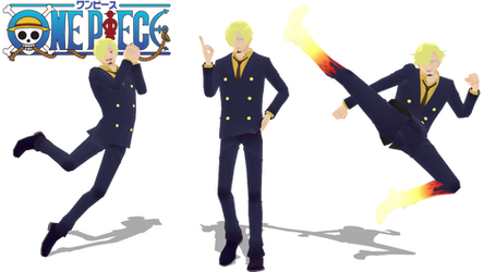 [MMD X One Piece] Vinsmoke Sanji + DL
