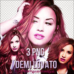 3 pngs Demi Lovato
